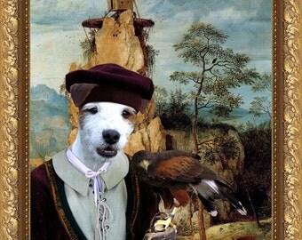 Parson Russell Terrier Art CANVAS Print Fine Artwork  Dog Portrait Dog Painting Dog Art Dog Print