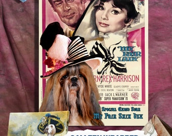 Shih Tzu Vintage Art Poster Canvas Print  - My Fair Lady Movie Poster NEW Collection by Nobility Dogs