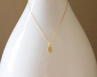 Little Leaf Necklace // Gold or Silver