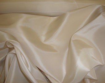 50 yards Vanilla Dress Drapery Taffeta fabric dresses, gowns skirts, event decorating
