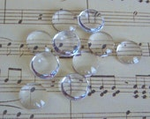 10-10mm Clear Glass Cabochons, Magnifying