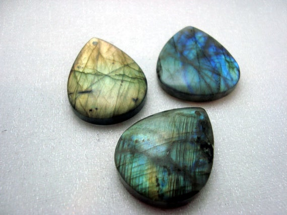 Gorgeous flashy labradorite teardrop pendant bead . Ready to add bail and put on your favorite cord or chain.