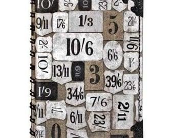 Tim Holtz District Market Spiral Journal / Notebook, Numeric, Ideaology, 4X5 3/4 inches, english pound