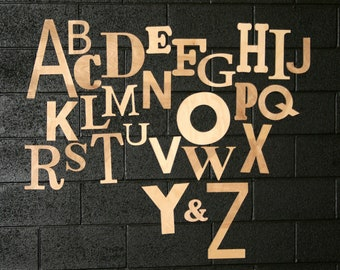 Capital Alphabet Set, Unfinished Letters  4 to 14 Inches Tall