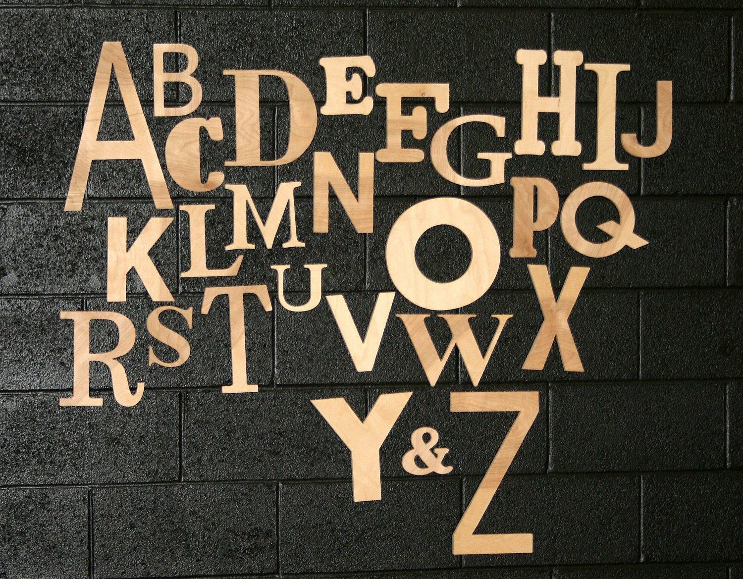 Wood Alphabet Set Unfinished Wood Letters All by simplysawdust