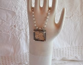 Soldered Romantic Pendant Blessed Necklace with Antique Lace
