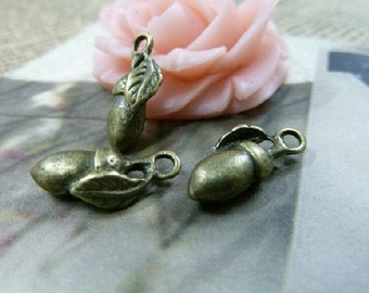 20pcs 18x19mm The Eggplant   Antique Bronze Retro Pendant Charm For Jewelry Necklace Charms Pendants C1560