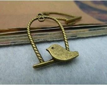 20pcs 17x29mm The Bird  Antique Bronze Retro Pendant Charm For Jewelry Necklace Charms Pendants C3140