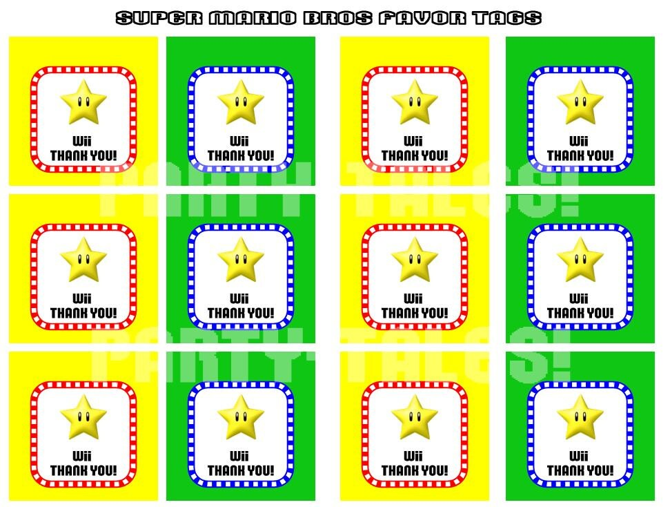 It's just an image of Gorgeous Super Mario Party Printables