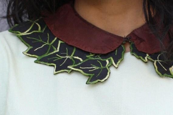 detacable collar / collar / FOLIAGE COLLAR leaf cutout collar