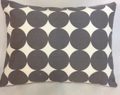 "ONE 12"" x 16""  Gray Dwell Dot envelope pillow covers."