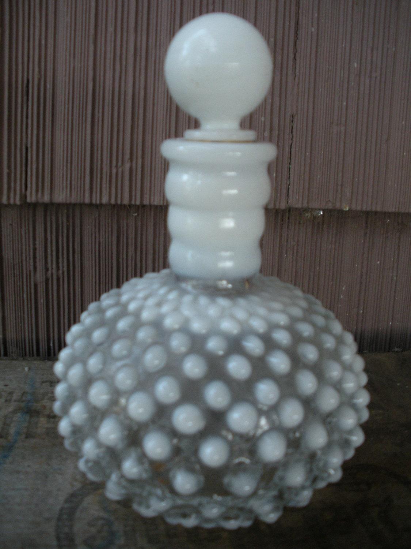 Mid Century Milk Glass Perfume Bottle Fenton By Homeintheoaks