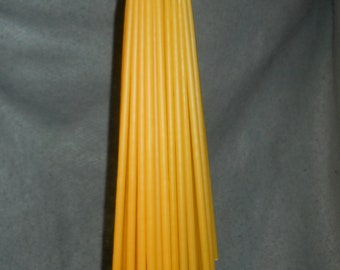 "24 Organic Beeswax tapers candles 1/4"" x 12"". Free Shipping to US"