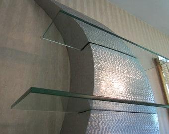 Metal Sculpture / Metal Wall Art / Curves Decor /  Stainless Steel Shelf Sculpture