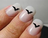 Halloween bats fingernail decals - sheet of 40 - MiddleburgTradingCo