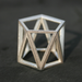 SKELETON TALL - Sterling silver faceted modern geometric 3D printed ring