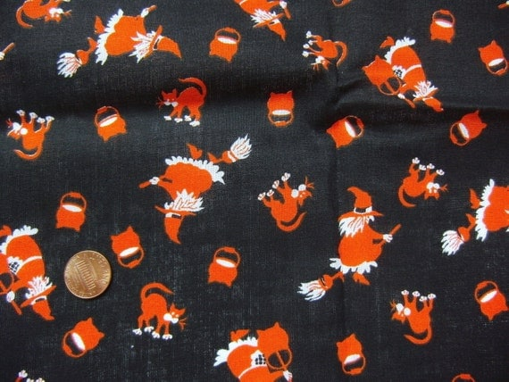Halloween Print Vintage Fabric Quarter Yard