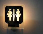 Women Restroom Nightlight / Toilette femmes Veilleuse
