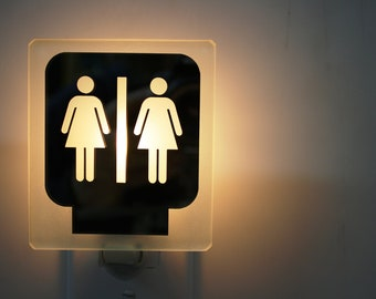 Women Restroom Nightlight / Toilette femmes Veilleuse