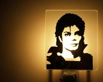 Michael Jackson nightlight on mirror veilleuse night light  Michael Jackson sur miroir
