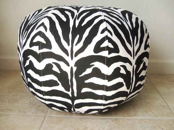 Super Fun Zebra Stripes,  Medium Size Pouf/Ottoman