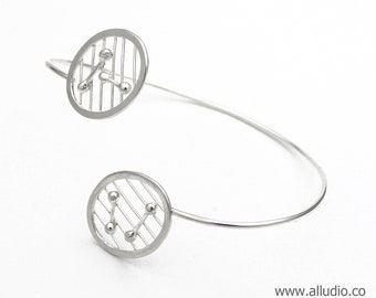 ATOMIC sterling silver bracelet bangle