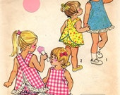 vintage 1972 TODDLER top bloomers simplicity sewing pattern 5052 size 2 PINAFORE easy to sew JIFFY summer retro