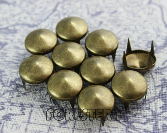 400Pcs 12mm Antique Brass CONE Studs Metal Studs (BC12)