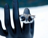 SALE- Adorable Furry Owl Face Adjustable Ring - buy one get one FREE
