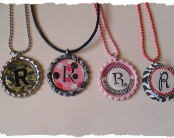 Your Choice Of Initial R Bottlecap Necklace Pick your Style