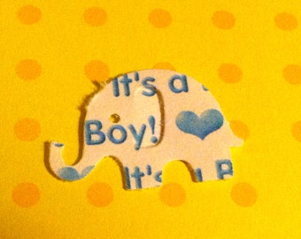 50 It's a Boy MODERN ELEPHANT DECOR  Baby Shower Confetti, Birthday party decorations,Invitations,scrapbooking, cards