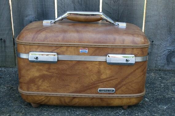 Vintage American Tourister Train Case, Brown