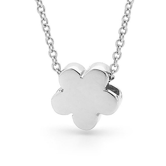 Sterling Silver Baby Blossom Necklace, small silver flower pendant or anklet, small daisy pendant