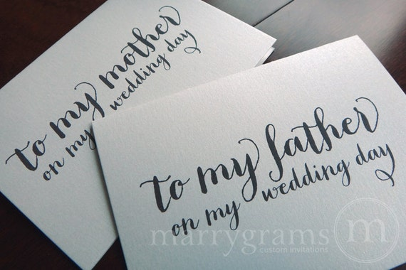 Wedding Card to Your Mother and Father - To the Parents of the Bride or Groom Cards - To My Mother, Father on My Wedding Day - CS02