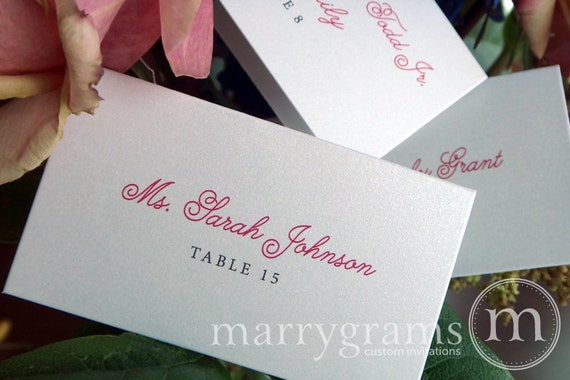 Wedding Place Cards Escort Cards Seating Cards For Reception