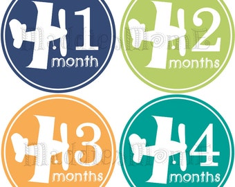 Monthly Baby Stickers Baby Month Sticker Monthly Stickers Airplanes Planes(Alex)