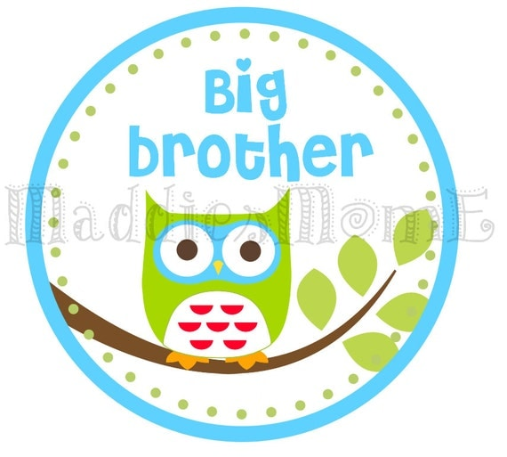 Big Brother Owl Iron on Transfer