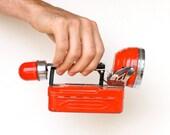 Vintage Red Emergency Flashlight