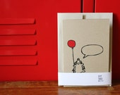 Happy Hedgehog, Silkscreen Card with Envelope