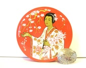 Typewriter Ribbon Tin Madam Butterfly Brand Red Tin