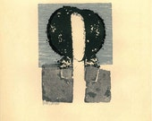 Original  Woodblock Print by Hector Contte Limited Edition