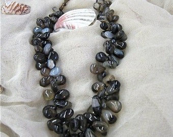 Dancing Brown Chalcedony Necklace