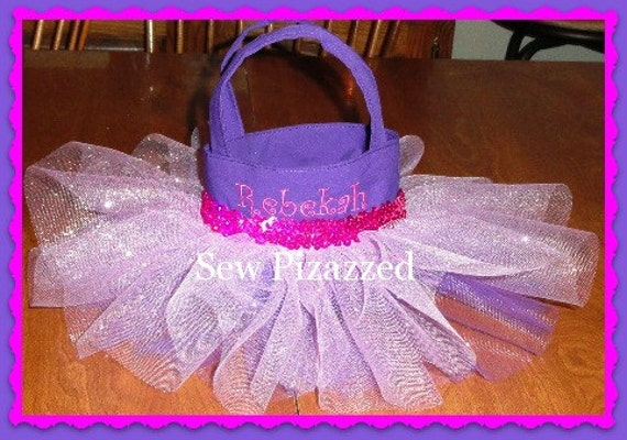 Rapunzel / Tangled Party Favor Size Tutu Tote Bag