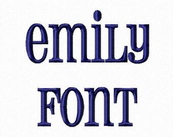 Emily Machine Embroidery Font Monogram Alphabet - 3 Sizes