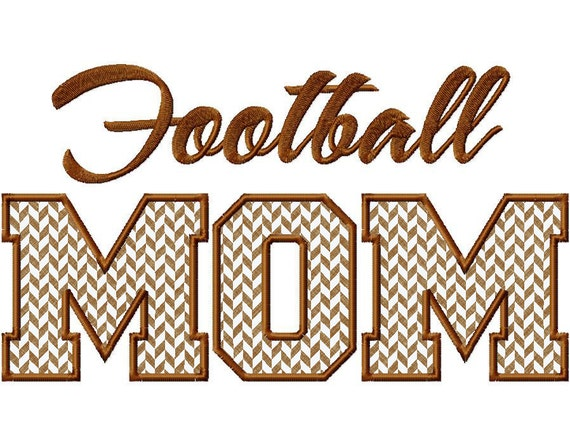 Football Mom Applique Machine Embroidery Design - 3 Sizes