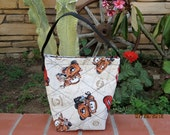 Cars...Tow-mater......Quilted lunch bag snack bag READY FOR SCHOOL