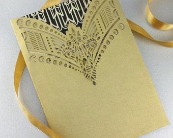 "Laser cut pocket - ""Art Deco Necklace"""