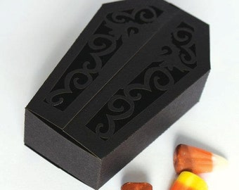 Coffin Lasercut Favor Box