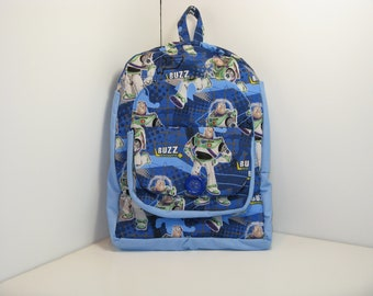 Buzz In Blue Preschool Backpack