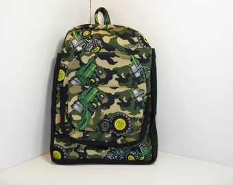 Camo JD Harvesters Preschool Backpack